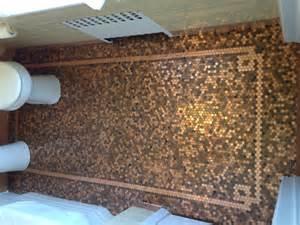 penny tiles: penny tile floor bathroom second sunco