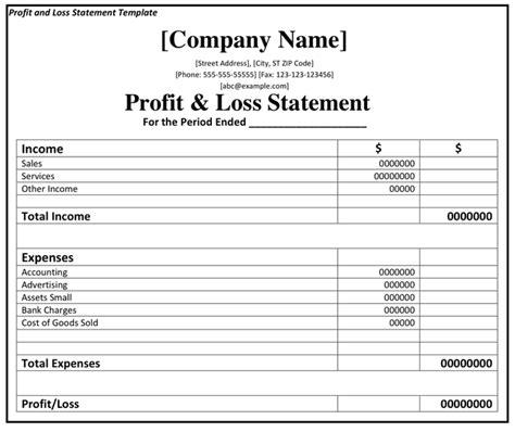 profits and loss statement oyle kalakaari co
