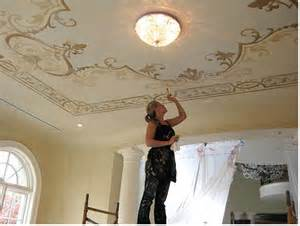 painting on ceiling downton style decorative painting