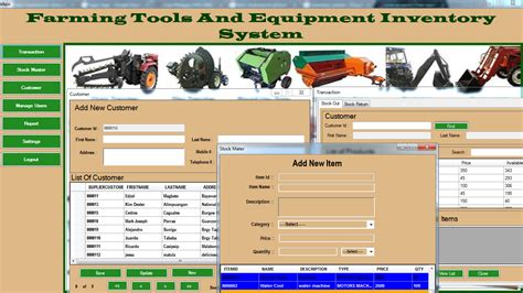 simple visual basic inventory system farming tools and equipment inventory system free source