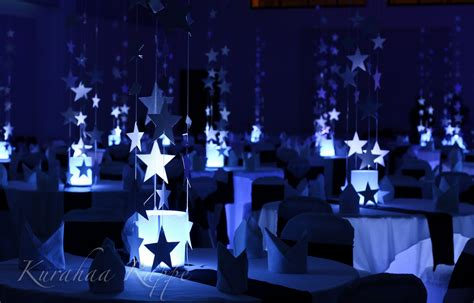 stars decor weddings centerpieces stars themed starry