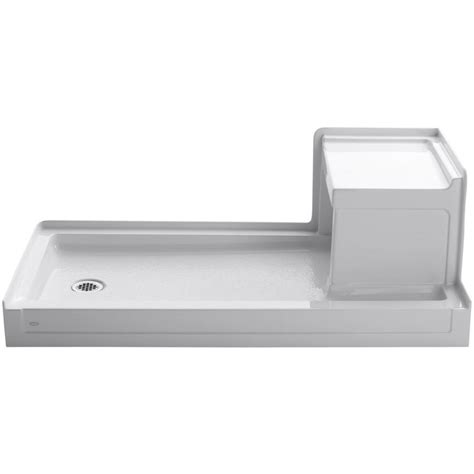 acrylic shower bench shop kohler tresham white acrylic shower base common 32