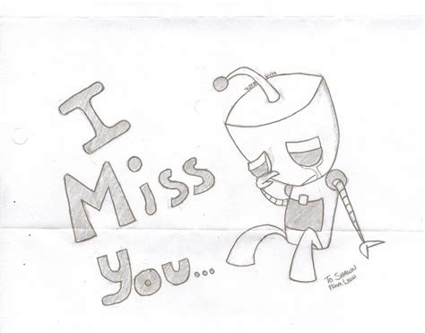 I Miss You Drawings