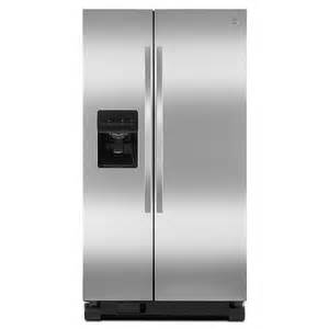 25 cu ft side by side refrigerator stainless steel sears outlet