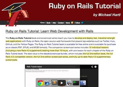 ruby tutorial website useful websites to learn ruby on rails neo design