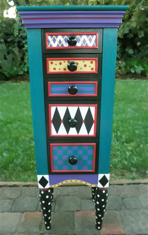 Armoire San Francisco by Jewelry Armoire Painted Whimsical Jewelry Armoires