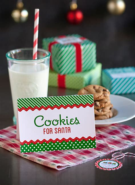 cookies for santa free christmas printables gift