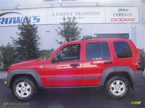 red jeep liberty 2005 2005 flame red jeep liberty sport 4x4 20720975 gtcarlot