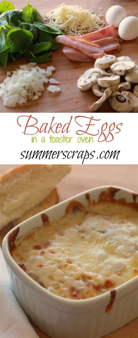 Baked Eggs Toaster Oven baked eggs in a toaster oven food crafts and family