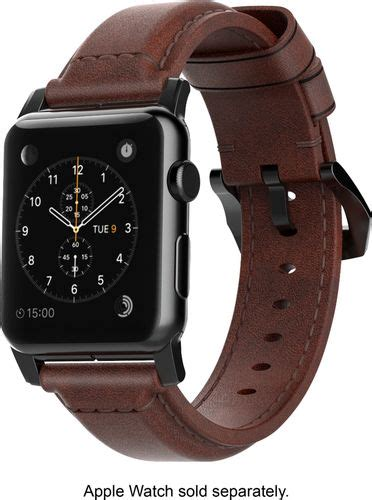 Nomad Modern Build Leather Apple 42mm Black Buckle nomad classic leather for apple 38mm