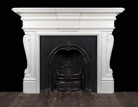 cast iron fireplace ci173 19th century antique cast