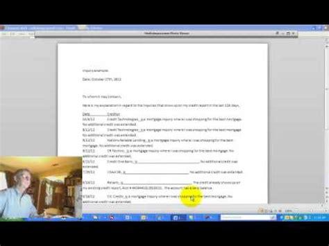 Credit Inquiry Explanation Letter Quicken Loans how to write a credit inquiry explanation letter