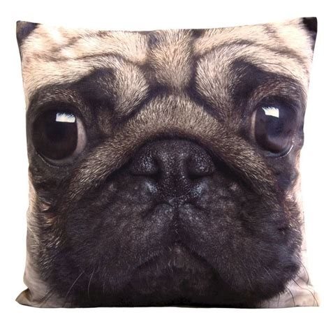 pug cushion uk photographic animal cushion 45 x 45cm pug buy at qd stores
