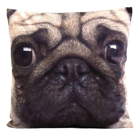 pug cushion uk photographic animal cushion 45 x 45cm pug buy at qd stores
