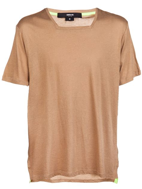 Sale Tshirt Collar Combi Square general idea square collar tshirt in beige for lyst