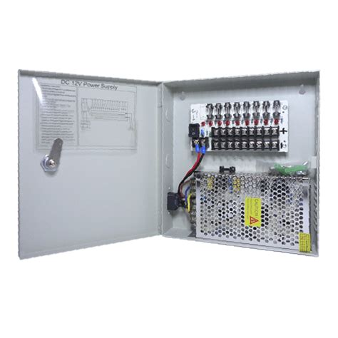 Power Supply 12v 10a Box cctv power supply box 12v dc 9 port distribution box