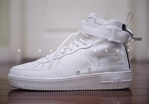 Sepatu Nike Air 1 Special Field Mid White Premium Quality nike sf af1 mid white preview sneakernews
