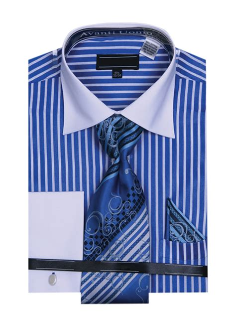 matching striped ties with striped shirt striped dress shirts w matching tie hanky set royal