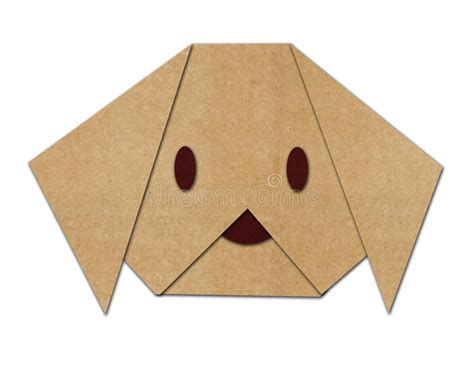 Puppy Origami - origami made from paper stock illustration