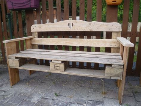 bench made of pallets patio pallet made bench pallet ideas recycled