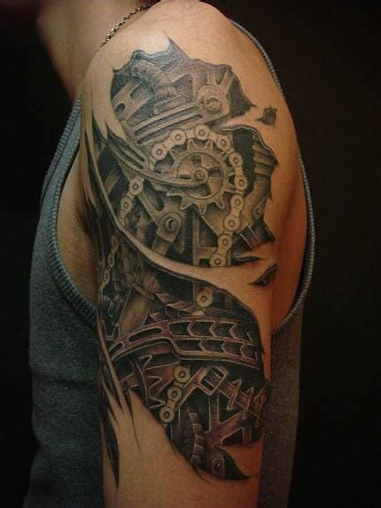 biomechanical gear tattoo sleeve 54 mechanical sleeve tattoos