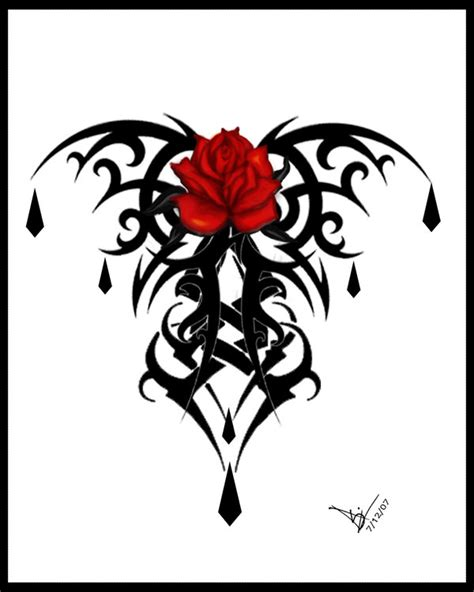 free rose tattoo designs to print print v2 by quicksilverfury on deviantart