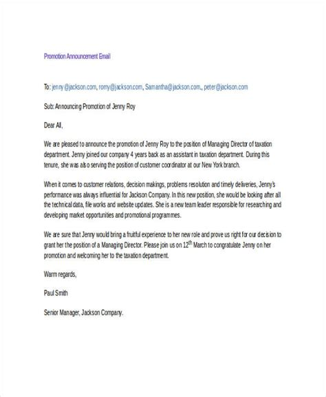 promotion announcement email template business