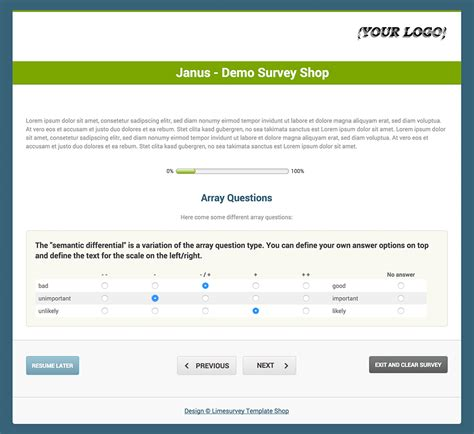 limesurvey template shop 187 limesurvey consulting com