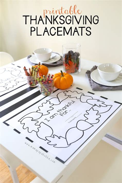 best 25 thanksgiving placemats ideas on pinterest
