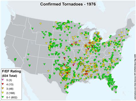 map of tornadoes today us tornadoes map1976 u s tornadoes