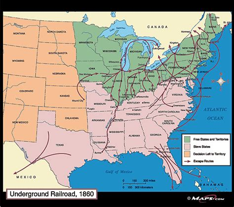 underground railroad map underground railroad on emaze