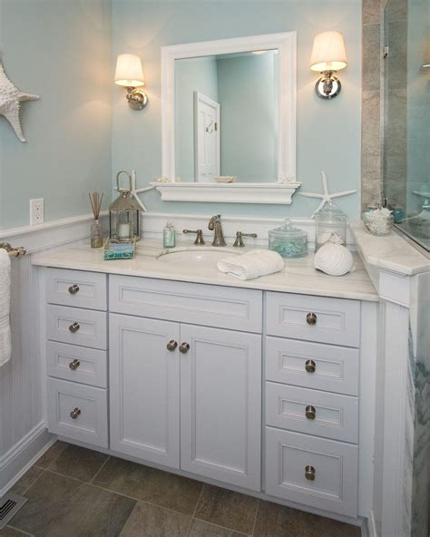 seaside ornaments for bathroom benjamin moore ocean bathroom beach style with wainscoting
