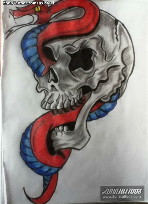 imagenes de calaveras y serpientes dibujo calavera con serpiente imagui