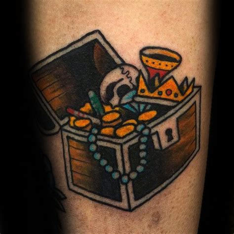 old school chest tattoo designs 40 treasure chest designs for valuable ink ideas