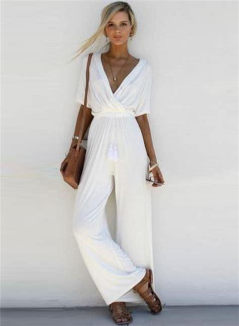 women s women s fashion v neck short sleeve solid wide leg