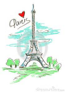 sketch illustration of eiffel tower stock vector image