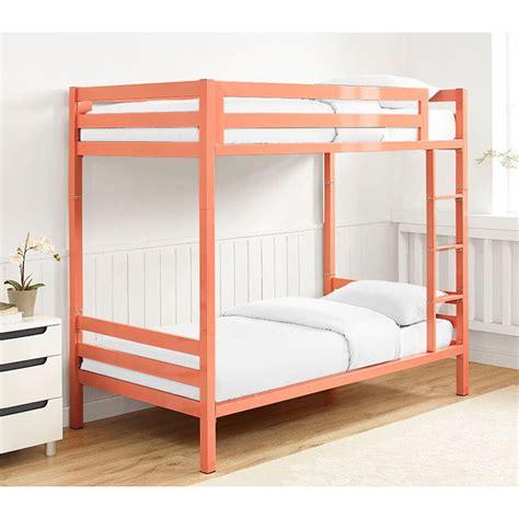 metal twin bed walker edison btsqtotcr bentley twin over twin metal bunk