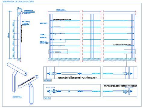 barandilla cable acero barandilla de cable de acero detallesconstructivos net