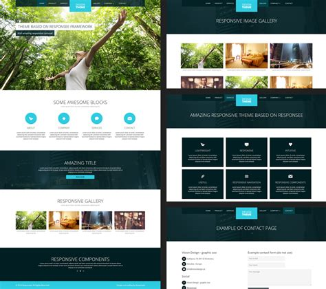 free personal html templates 12 free responsive business website templates