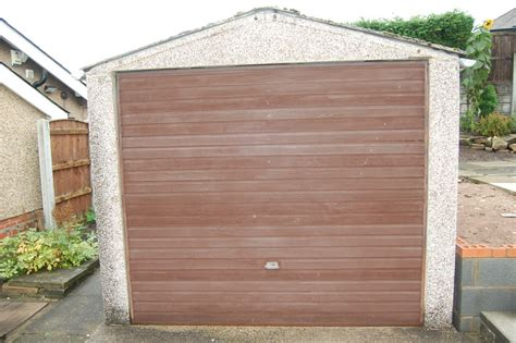 Garages Chorley by Replace Garage Door And Cladding On Concrete Garage