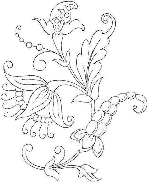 design flower coloring page flower coloring page