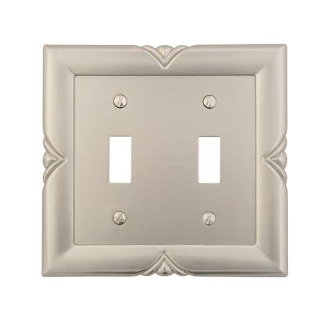 amerelle bedford 2 toggle wall plate satin nickel 87ttn