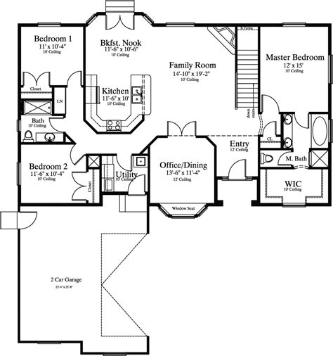 single story house plans 2500 sq ft 1745 1 needahouseplan com