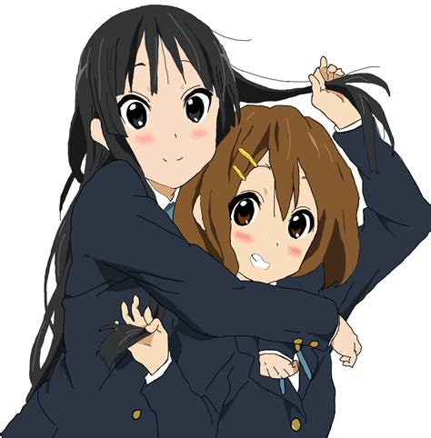 Kaos Anime Sakamoto hug d mio and yui from k on awwnime