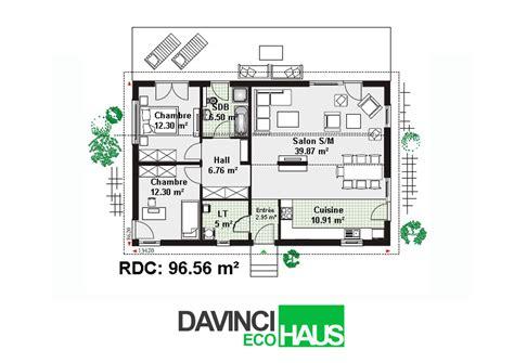 Plan Maison Plain Pied 50m2 Maison Ossature Bois Projet plan maison ossature bois plain pied plan de maison en u