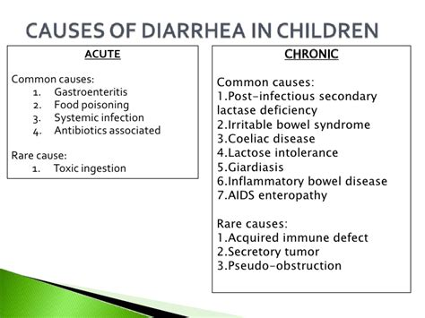 diarrhea causes 10 ac diarrhoea vomiting rec abd