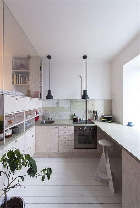 Beau Plan Travail Pierre #8: Cuisine-semi-ouverte-parquet-blanc-luminaire-suspension-bar-cuisine.jpg