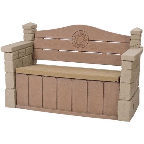 step 2 bench step 2 174 outdoor storage bench 176337 patio storage at