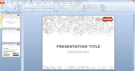powerpoint presentation templates for numbers free numbers powerpoint template free powerpoint