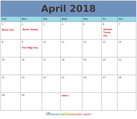free download printable april 2018 calendar with check boxes